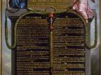 Tablica z postanowieniami Deklaracji Praw Człowieka i Obywatela