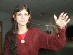 Anna Łazura z Wydziału Biologii i Ochrony Środowiska i Phryganistria heusii