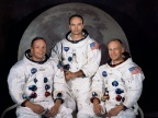 Członkowie misji (od lewej): Neil Armstrong, Michael Collins, Edwin Aldrin. Fot NASA