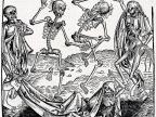 """Danse macabre"" - grafika Michaela Wolgemuta z 1493 r. inspirowana wielką epidemią dżumy"