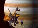 Galileo na orbicie Jowisza. Fot. NASA / JPL