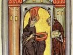 Schizofrenią prawdopodobnie dotknięta była św. Hildegarda z Bingen (miniatura z Rupertsberger Codex Liber Scivias z XII wieku)