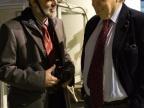Prof. Jan Kisiel i prof. Carlo Rubbia, laureat Nagrody Nobla w dziedzinie fizyki