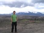 Dr Jakub Morawiec pod wulkanem Hekla w południowej Islandii. Fot. Jakub Morawiec