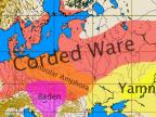 Zasięg kultury ceramiki sznurkowej (ang. Corded Ware) oraz kultury grobów jamowych (ang. Yamna) (Foto: pl.wikipedia.org)