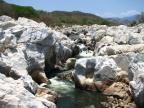 Przykład koryta jednej z badanych rzek w południowo-zachodnim Meksyku
