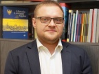 Dr Mirosław Węcki z Zakładu Archiwistyki i Historii Śląska w Instytucie Historii UŚ