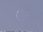 Na chwilę przez zakryciem (obraz programu Stellarium)