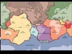 Współczesny układ płyt tektonicznych pierwszego i drugiego rzędu. Rys. wikipedia.org