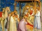 """Gwiazda Betlejemska uwieczniona na fresku Giotta pt. """"Pokłon Trzech Króli"""" (1304–1306)"""