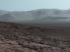 Panorama krateru Gale. Credit: NASA/JPL-Caltech