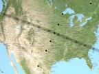 Mapa przebiegu zaćmienia słońca 21 sierpnia 2017 roku. Credit: NASA