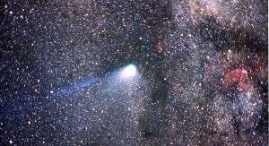 Kometa Halleya sfotografowana z Kuiper Airborne Observatory w 186 roku. Była brana pod uwagę jako jedna z możliwości bycia Gwiazdą Betlejemską (fot. domena publiczna)