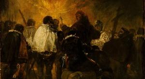 Francisco Goya (1746-1828): Scena nocna z inkwizycji. [Public domain], via Wikimedia Commons