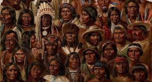 Tubylczy Amerykanie (rysunek z początku XX wieku). Fot. Domena publiczna
