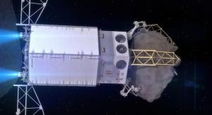 Artystyczna wizja statku kosmicznego przechwytującego asteroidę. Fot. NASA
