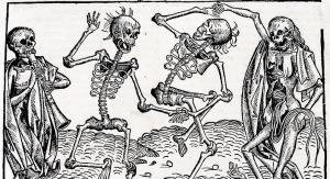 Taniec śmierci Michaela Wolgemuta inspirowany czarną śmiercią | fot. domena publiczna