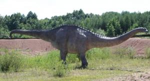 Diplodok (Diplodocus) w JuraParku w Krasiejowie. Fot. Tomasz Płosa