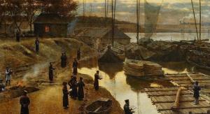 """Aleksander Gierymski, """"Święto Trąbek I"""", olej, płótno, 47 x 64,5 cm, fot. Muzeum Narodowe w Warszawie"""
