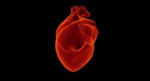 czerwone serce (organ) na czarnym tle