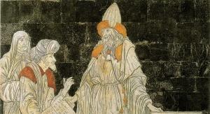 Mozaika w katedrze w Sienie (Włochy) wyobrażająca Hermesa Trismegistosa w towarzystwie mędrców Wschodu i Zachodu. Foto: domena publiczna
