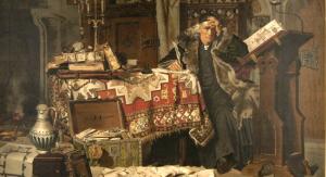 """""""Jan Długosz"""", reprodukcja obrazu Antoniego Gramatyki (fot. domena publiczna)"""