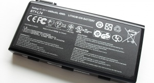 Bateria litowo-jonowa do laptopa. Kristoferb [CC BY-SA 3.0 (https://creativecommons.org/licenses/by-sa/3.0)]