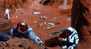 Artystyczna wizja kolonizacji Marsa. Fot. NASA/PAT RAWLINGS