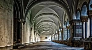 sklepienie w budynku klasztoru
