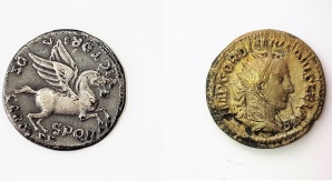 Monety rzymskie z III wieku n.e. Fot. Małgorzata Kłoskowicz
