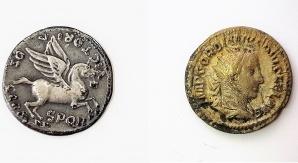 Monety rzymskie. Fot. Małgorzata Kłoskowicz