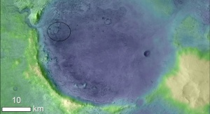 Miejsce planowanego lądowania łazika Mars 2020. Image credit: NASA/JPL-Caltech/MSSS/JHU-APL/ESA