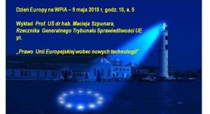 plakat - Dzień Europy na WPiA US