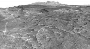 Utopia Planitia. Zdjęcie wykonane przez instrument High Resolution Imaging Science Experiment (HiRISE) znajdujący się na pokładzie Mars Reconnaissance Orbiter (MRO). Fot. NASA/JPL-Caltech/Univ. of Arizona