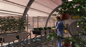 Artystyczna wizja farmy marsjańskiej. Fot. NASA/SAIC