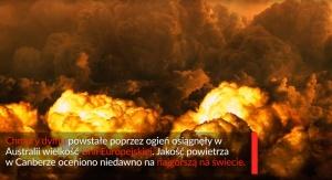 Pożary w Australii. Fot. UŚ TV