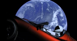 Tesla Roadster firmy SpaceX. Fot. SpaceX/YouTube