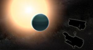 Atmosfera planety obserwowana podczas tranzytu przez tarczę gwiazdy. Image credit: NASA/GSFC