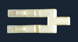 Model ustnika dwurożnego wykonany techniką druku 3D według projektu naukowców z Uniwersytetu Śląskiego, objęty ochroną patentową. Fot. Sekcja Prasowa UŚ