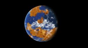 Artystyczna wizja Wenus pokrytej oceanem. Image credit: NASA