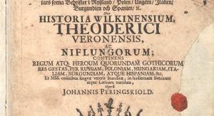 Pierwsza strona Sagi o Olafie Tryggvasonie, królu Norwegii żyjącym w X wieku. Kopenhaskie wydanie z 1699 roku, dedykowane nowemu królowi Danii i Norwegii Fryderykowi IV (Foto: National and University Library of Iceland)