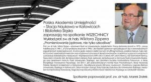 Wykład prof. Wiktora Zippera o promieniowaniu jądrowym