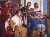 Galileo prezentuje doża weneckiemu, jak używać teleskopu. Fresk Giuseppe Bertiniego. Fot. Wikipedia