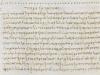 """Fragment """"Dialogów"""" Lukianaz Samosat – manuskrypt z X wieku (Harley MS 5694). Źródło:British Library. Domena publiczna."""