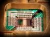 Układ skonstruowany przez D-Wave Systems, zawierający 128 kubitów zrealizowanych za pomocą nadprzewodników   fot. D-Wave Systems, Inc., CC BY 3.0 <https://creativecommons.org/licenses/by/3.0>, via Wikimedia Commons