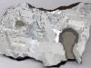 Zdjęcie plastra meteorytu Morasko z widocznymi nodulami  troilitowo-grafitowymi / Fot. Uniwersytet Śląski