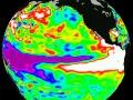 El Niño zaobserwowany przez satelitę TOPEX/Poseidon w 1997 roku. Fot. Wikipedia