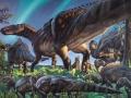 Artystyczna wizja nowego gatunku dinozaura. Fot. James Havens