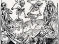 Taniec śmierci Michaela Wolgemuta inspirowany czarną śmiercią. Fot. Domena publiczna