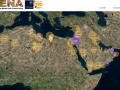 widok ogólny (zrzut ekranu) mapy bazy danych EAMENA. Źródło: http://eamena.arch.ox.ac.uk